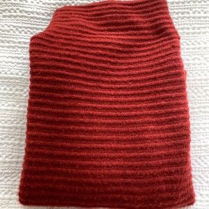 Madewell mock turtleneck sweater in burnt red